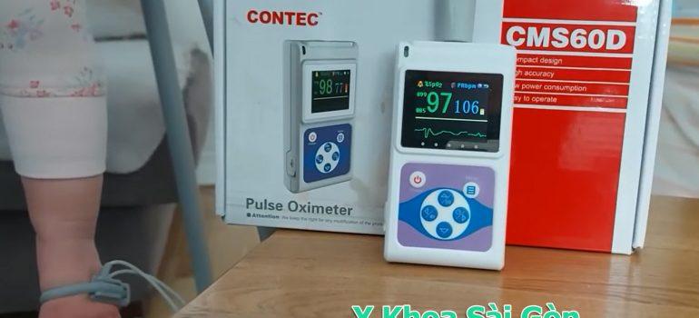 máy đo spo2 trẻ sơ sinh cms60d